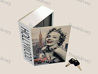 Книга, книжка сейф на ключе, металл, 180х115х55мм