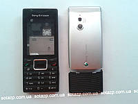 Корпус  к мобильному телефону Sony Ericsson J10  Black-silver  full