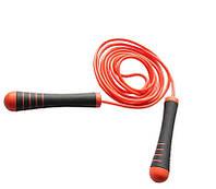 Скакалка спортивная с утяжелителями на ручках Power System Красный