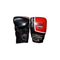 Перчатки боксерские снарядные Power System Чёрный черный:красный