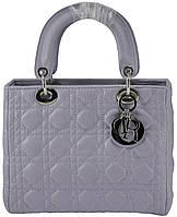 Женская сумка Dior Midi Lady Dior Cannage Bag фиолетовая