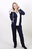 Спортивный костюм насыщеного  синего цвета, фото 1