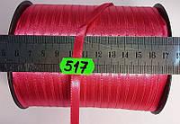 Лента атласная двухсторонняя 5мм, цвет малиновый, Турция