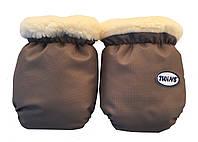 Меховые рукавички на санки или коляску Twins
