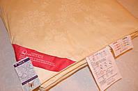 Шелковое одеяло 200х220 в жаккардовом чехле GoldenTex OD-462-2 бежевое