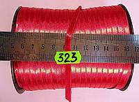Лента атласная двухсторонняя 5мм, цвет св. красный, Турция