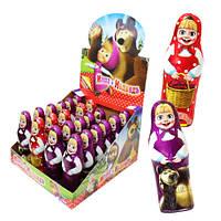 Шоколадные фигурки Маша и медведь с сюрпризом 38 гр.