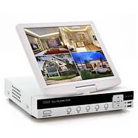 Видеорегистратор HD DVR: 4 канала, разрешение экрана 800*480, PTZ