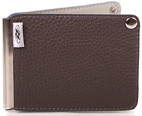 Мужской кожаный зажим для купюр Zappa (ЗАППА) Zap1-291-20 коричневый