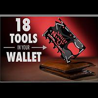 Мультитул КРЕДИТКА 18 в 1  ninja_wallet