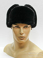 "Норковая мужская меховая шапка ""Молодежка"""