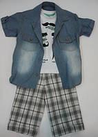 Комплект для мальчика Biyik: майка, сорочка и шорты