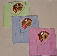 Полотенце-уголок с капюшоном для купания 80 х 80