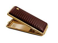 Портсигар 904138 д.14 Super KS сигарет, кожа кроко (Eid) бордо/золото