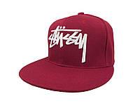 Бордовая кепка Stussy