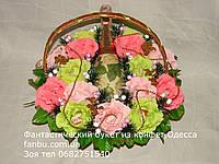 """Зимний букет роз из конфет и шампанского""""Новогодний рай""""№15"""