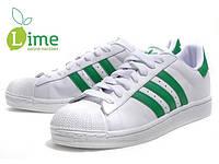 Кроссовки, Adidas Superstar White-Green
