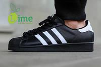 Кроссовки, Adidas Superstar Black/White