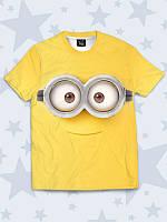 Прикольная детская футболка Глазастый миньон