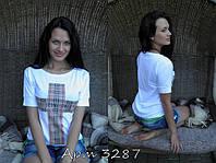 """Стильная летняя футболка """"Крест-барберри"""""""
