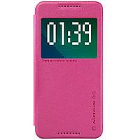 Кожаный чехол Nillkin Sparkle для HTC Desire 626G Dual Sim розовый