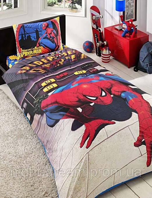 Подростковое постельное белье  DISNEY  от TAC Spiderman Sense Gossamer