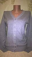 Кофта Zara серая женская вязанная на пуговицах