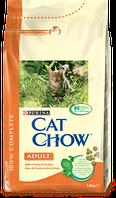 Cat Chow Adult 15кг-корм для кошек с курицей и индейкой
