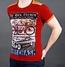 Стильная футболка с контрастной вставкой