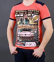 Мужская футболка с рисунком машины