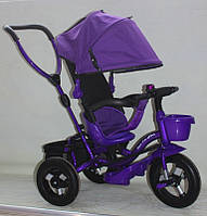Детский велосипед трехколесный с ручкой(надувные)Super Trike