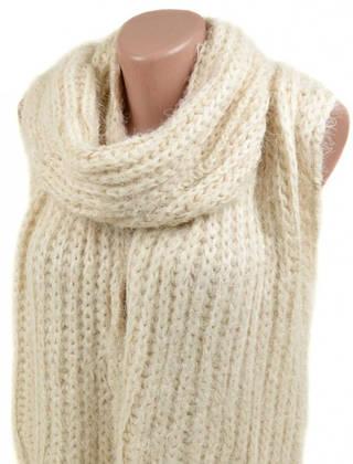 Красивый женский теплый шарф 180х30 вискоза M0413 white