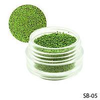 Светло-зеленые  бульонки в круглой таре Lady Victory LDV SB-05 /42-0