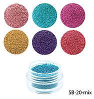 Бульонки цветные в баночках Набор Микс Lady Victory LDV SB-20-mix /42-0