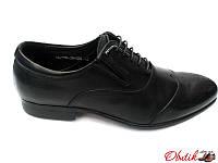 Туфли-броги мужские классика Cosottinni кожаные черные Cos0001