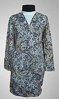 Детское платье для девочек, подростковое, с карманами, замком по всей длине спинки, и сумочкой, практичное
