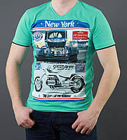 Бирюзовая футболка с рисунком
