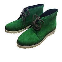 Зеленые ботинки HooS