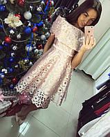 Эксклюзивное коттоновое платье с перфорацией