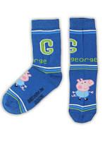 "Носки детские на мальчика  Peppa pig (м/ф ""Свинка Пеппа"")/синие /размер 31-34"