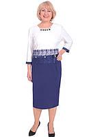 Платье женское большого размера с кружевным украшением на талии