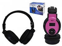 Беспроводные наушники R07 MP3-плеер с поддержкой TF карты и FM радио, 890mAh, черные с розовым