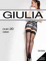 Чулки с самоудерживающимся кружевом и эффектным швом TM GIULIA
