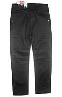 Брюки-джинсы черные детские теплые