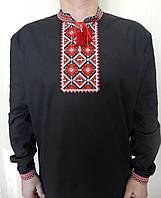 Вышиванка мужская черного цвета.