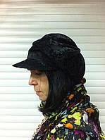 Демисезонная кепка из микровельвета цвет черный