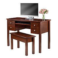 Стол компьютерный письменный из массива дерева сосна 031