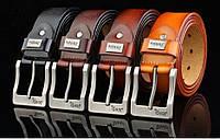 Мужской кожаный ремень Jeep. Удобный в пользовании. Красивый и универсальный пояс. Стильный ремень. Код: КЕ368