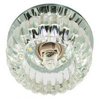 Светильник светодиодный декоративный C1010 JCD9 прозрачный с  led  подсветкой  2.5W 4000K Max 35W, Feron