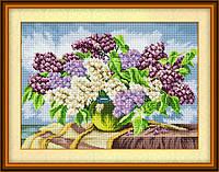 «Сирени в вазе» LasKo TK035 Набор для рисования камнями (на холсте)